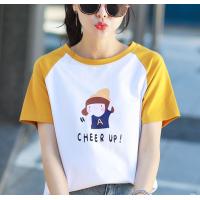 2020春装新款韩版女装时尚卡通短袖T恤宽松大码清新学生百搭上衣