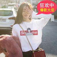 2020春季新款韩版宽松女士长袖T恤女衣服打底衫上衣